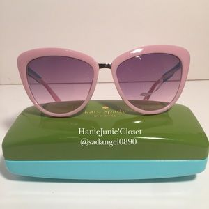 KATE SPADE CISSY PINK SUNGLASSES 😎